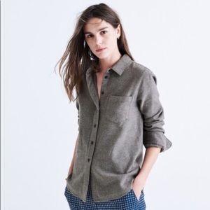 Madewell Grey Wool Flannel